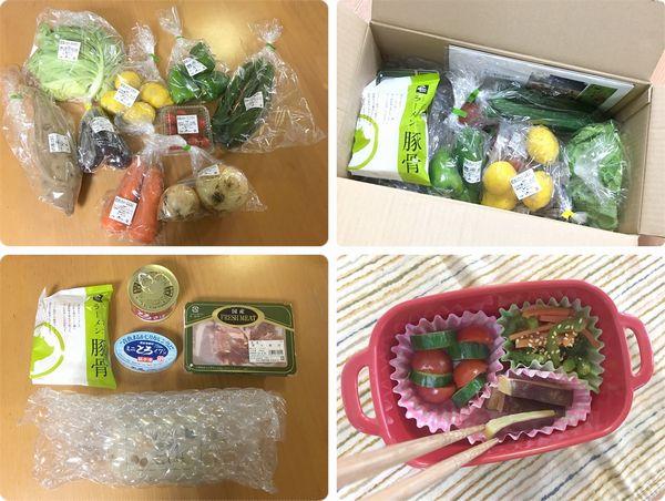らでぃっしゅぼーや箱の中身と料理例
