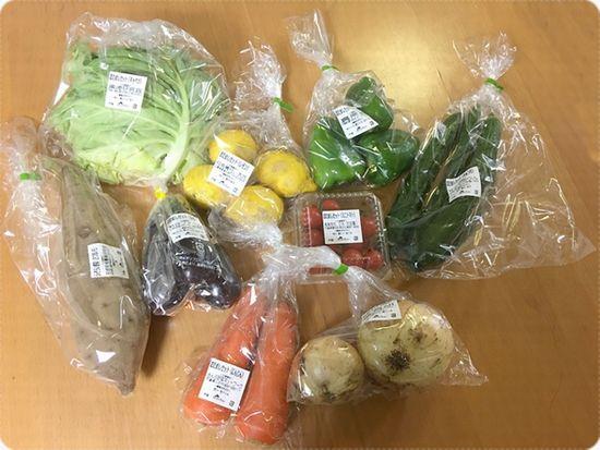 野菜たちのアップ