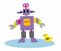 ロボットとアヒルのおもちゃ