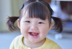 幼児の笑顔